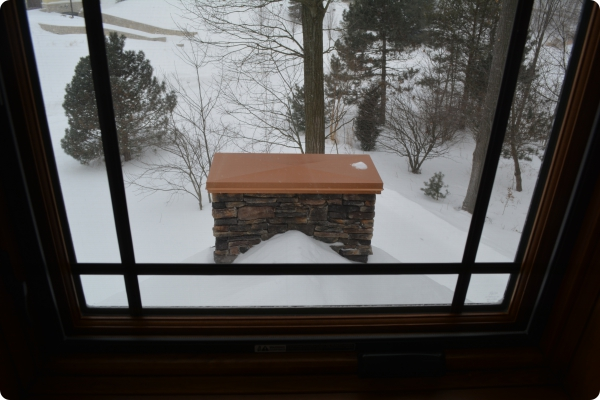 View of Custom Fireplace Cap from The Crow's Nest