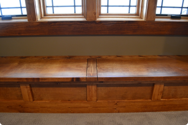 Built-in Bench in Upstairs Rec Room